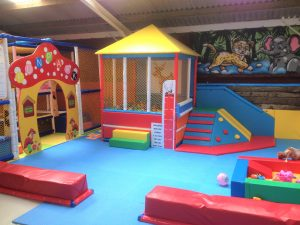 Indoors at Blithbury soft play barn